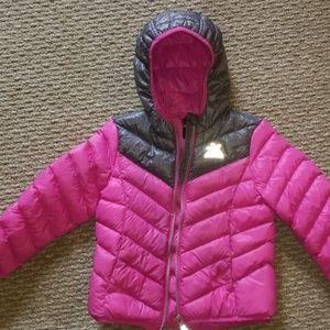 Zero exposure down filled girls coat size 4